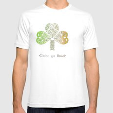 Ireland Forever White Mens Fitted Tee SMALL