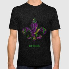 Word Cloud - NOLA Mens Fitted Tee Tri-Black SMALL