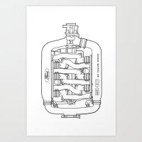 Intake Inverted Monochro… Art Print