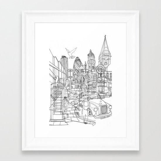 London! Framed Art Print