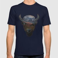 Bison Peak Mens Fitted Tee Navy SMALL