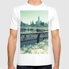 Snowy New York Mens Fitted Tee White SMALL