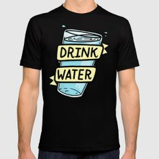 Drink Water Mens Fitted Tee Black SMALL