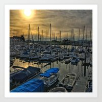 Sunset in Shoreline Art Print