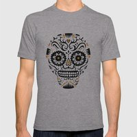 Sugar Skull SF - white Mens Fitted Tee Athletic Grey SMALL