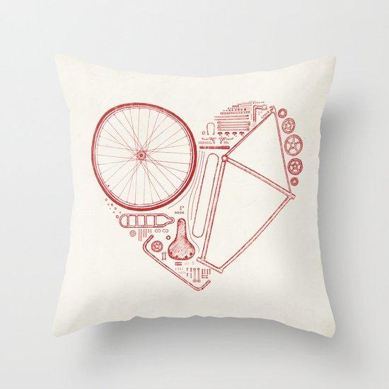 Love Bike Throw Pillow