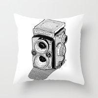 Rolleiflex Throw Pillow