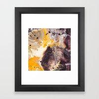Color Commentary #16: Purple/Maroon & Golden Yellow [Herman de Waal] Framed Art Print