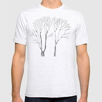 Winter trees Mens Fitted Tee Ash Grey SMALL
