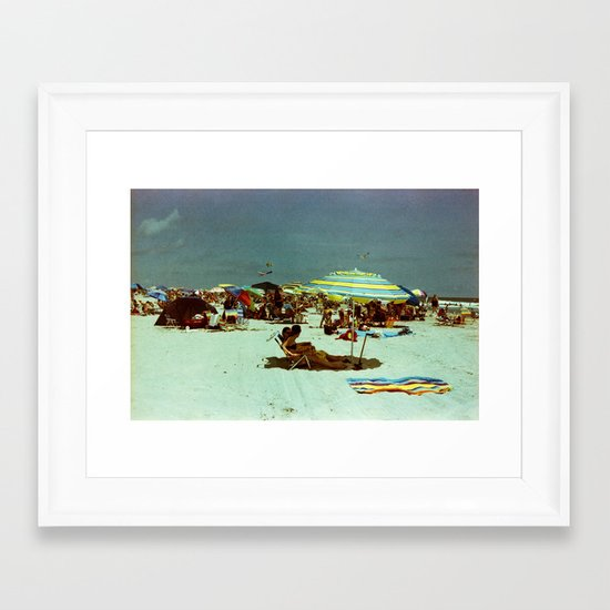Beach, Wildwood, New Jersey Framed Art Print