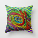 BRAINMAN #1 Psychedelic Vibrant Character Design Throw Pillow