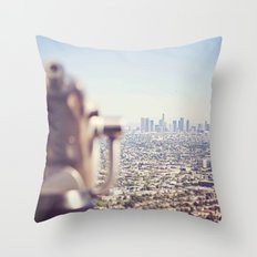 View from the Top, Los Angeles Throw Pillow