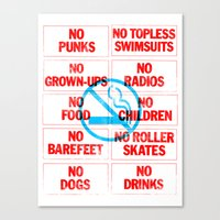 No Nothing Canvas Print