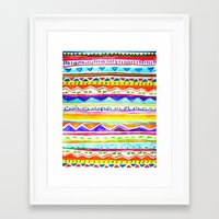 Autumn Tribal Framed Art Print