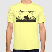Alice's Adventures In Wo… Mens Fitted Tee Lemon SMALL