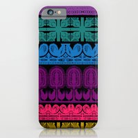 iPhone & iPod Case featuring folk cutouts pattern by ravynka