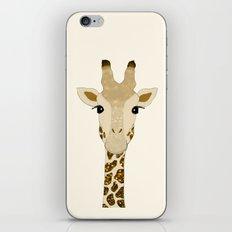 Golden Glitter Giraffe iPhone & iPod Skin