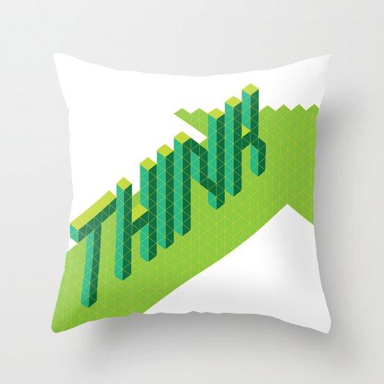THINK FWRD Throw Pillow