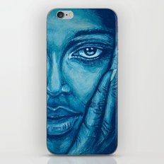 look at me-blue iPhone & iPod Skin