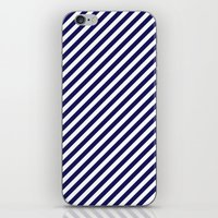 Classic Stripes in Navy + White iPhone & iPod Skin