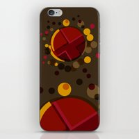 Circular Brown Abstract … iPhone & iPod Skin