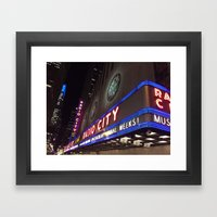 Radio City Music Hall Framed Art Print
