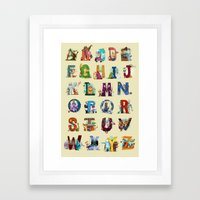 The Animals' Alphabet Framed Art Print