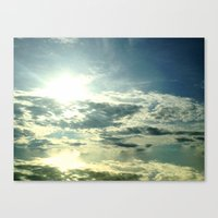 Cloudy Reflections Canvas Print