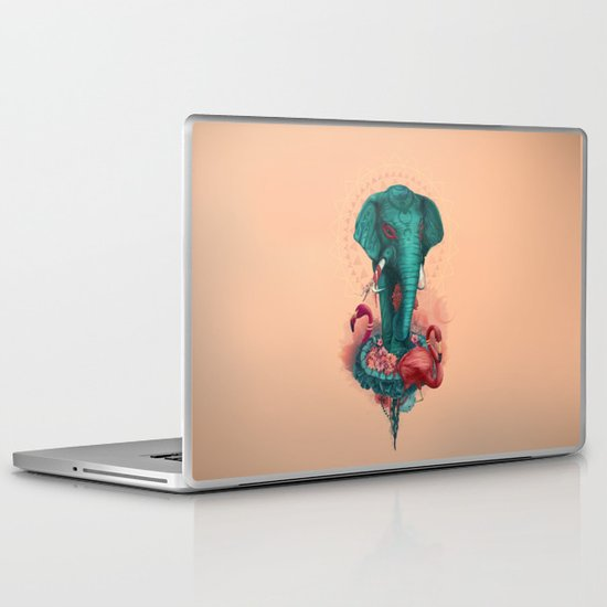 Elephant on the mat Laptop & iPad Skin
