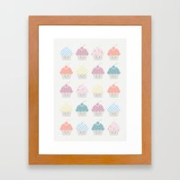Cupcakes Pattern Framed Art Print