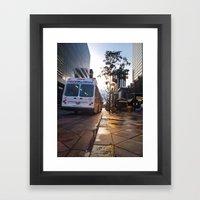 Bus On 16th Street Framed Art Print