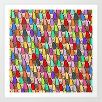 Nails Did - Rainbow Art Print