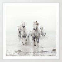 Ghost Riders - Horse Art Art Print