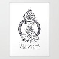 FeelMore x CareLess Art Print