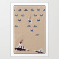 Invaders From Space Art Print