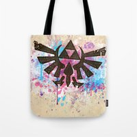 Splash Triforce Emblem Tote Bag