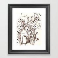 Paper And Pen Framed Art Print