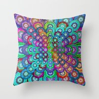 Multicolor Dots Pyramid Throw Pillow