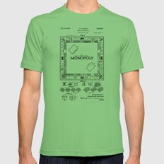 Monopoly Patent drawing Mens Fitted Tee Grass SMALL