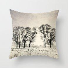 Dark Winter Days Throw Pillow