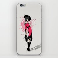 Pink Dress - Fashion Illustration iPhone & iPod Skin
