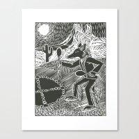 Coyote Dancer  Canvas Print