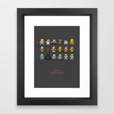 Mega Star Wars: Episode IV - A New Hope Framed Art Print