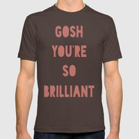 Gosh (Brilliant) Mens Fitted Tee Brown SMALL