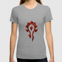 for the horde Womens Fitted Tee Tri-Grey SMALL