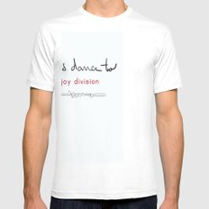 Let's dance to JD White Mens Fitted Tee SMALL