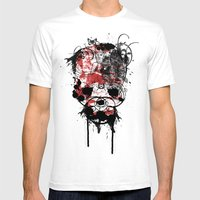 Punished Mens Fitted Tee White SMALL
