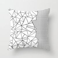Abstraction Outline Grid… Throw Pillow