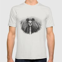 Leo Mens Fitted Tee Silver SMALL