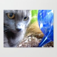 Greyjob VS. The Aquaglob… Canvas Print